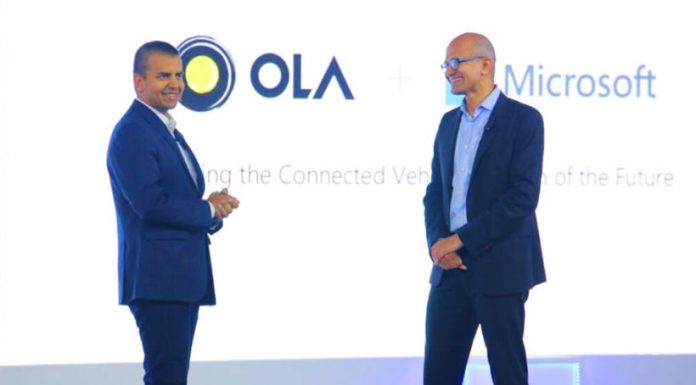 Microsoft to Invest In OLA.