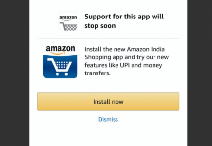 iPhone users cannot use old Amazon App from now on