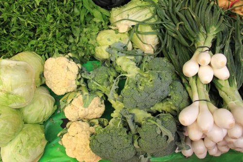 Green vegetables in Vitamin K