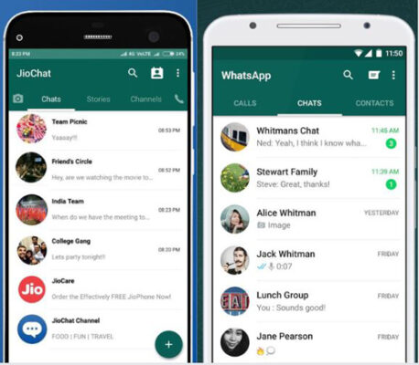 JioChat: Another Original Product From Jio Which Looks Way Too Similar To Whatsapp