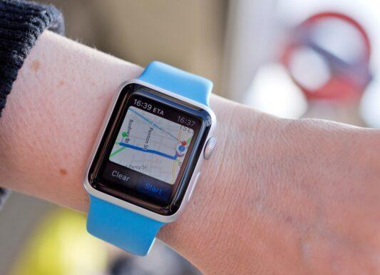 Apple watch in google maps