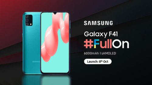 Samsung Galaxy F41 Launch Date-8th October