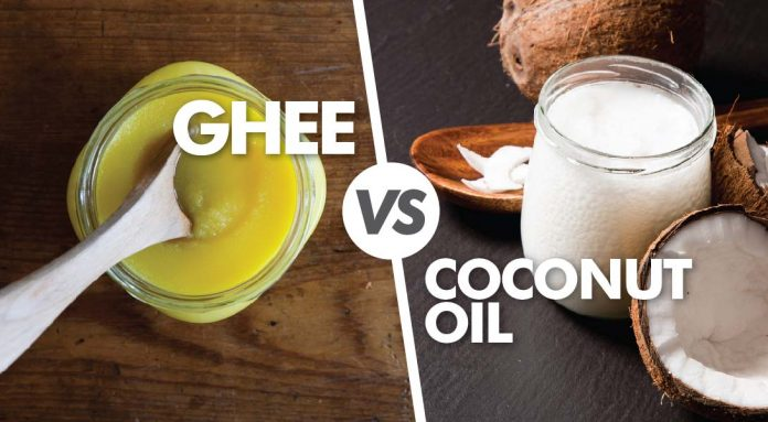 ghee and coconut oil