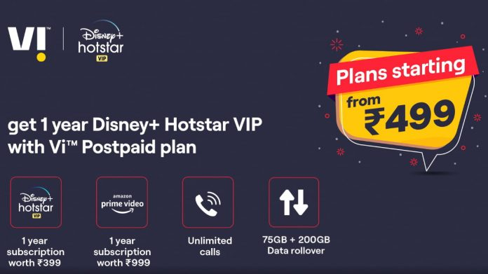 Vi (Vodafone Idea) Telecom Operator Offers 1-Year Disney+Hotstar VIP Subscription to Selected Prepaid and Postpaid Users