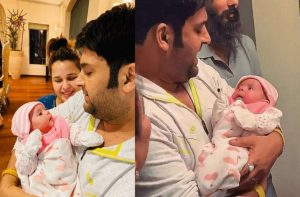 Kapil Sharma with his wife and son