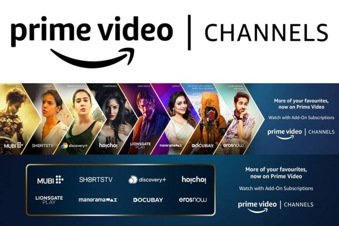 Prime Video Channels launched by Amazon, Bringing Together 8 OTT Apps in India