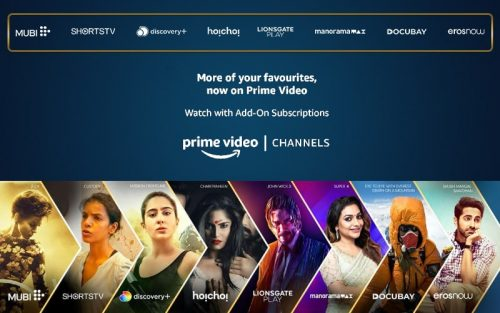 Prime Video Channels launched by Amazon
