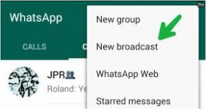 How to use broadcast list feature on whatsapp